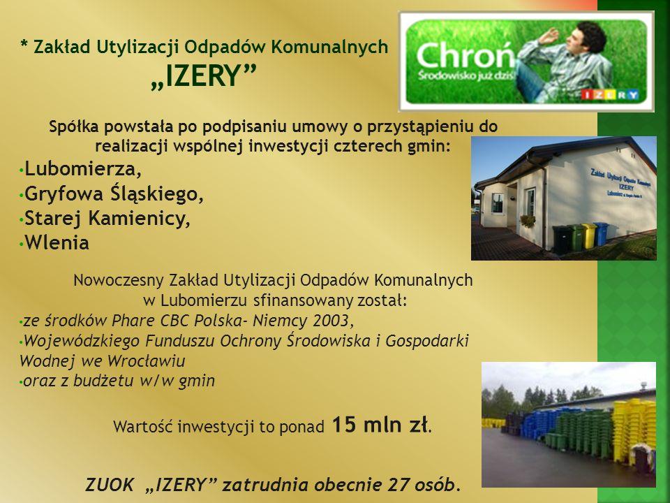 """""""IZERY Lubomierza, Gryfowa Śląskiego, Starej Kamienicy, Wlenia"""