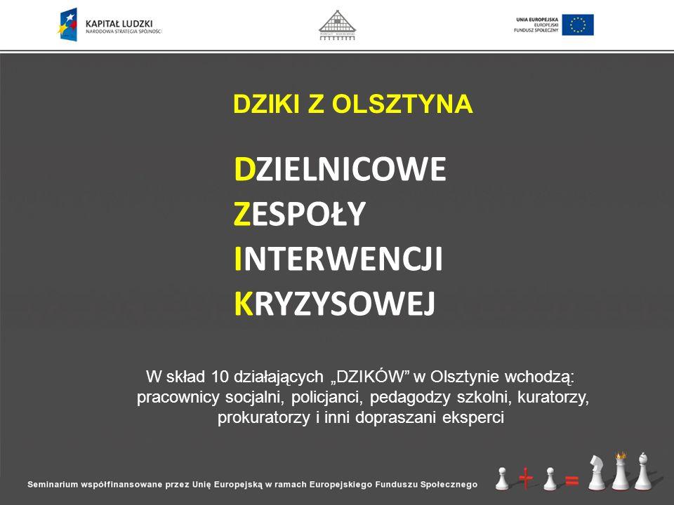 """W skład 10 działających """"DZIKÓW w Olsztynie wchodzą:"""