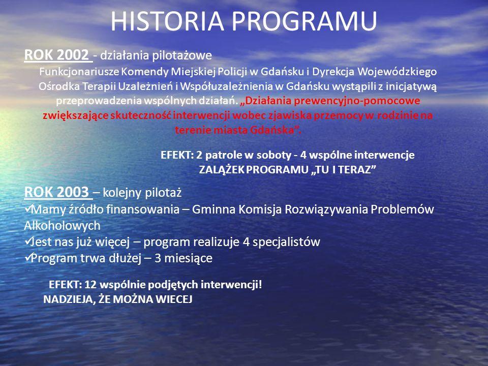 HISTORIA PROGRAMU 2002 ROK 2002 - działania pilotażowe