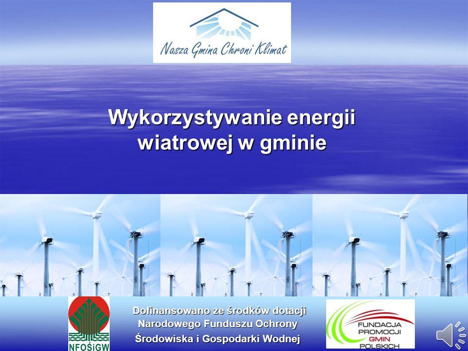 Wykorzystywanie energii wiatrowej w gminie