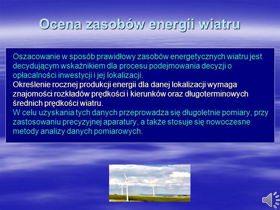 Ocena zasobów energii wiatru