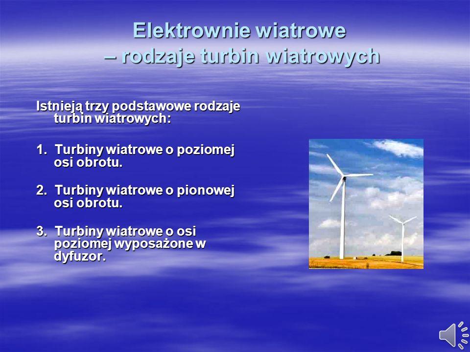Elektrownie wiatrowe – rodzaje turbin wiatrowych