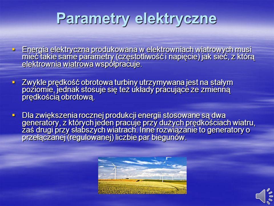 Parametry elektryczne