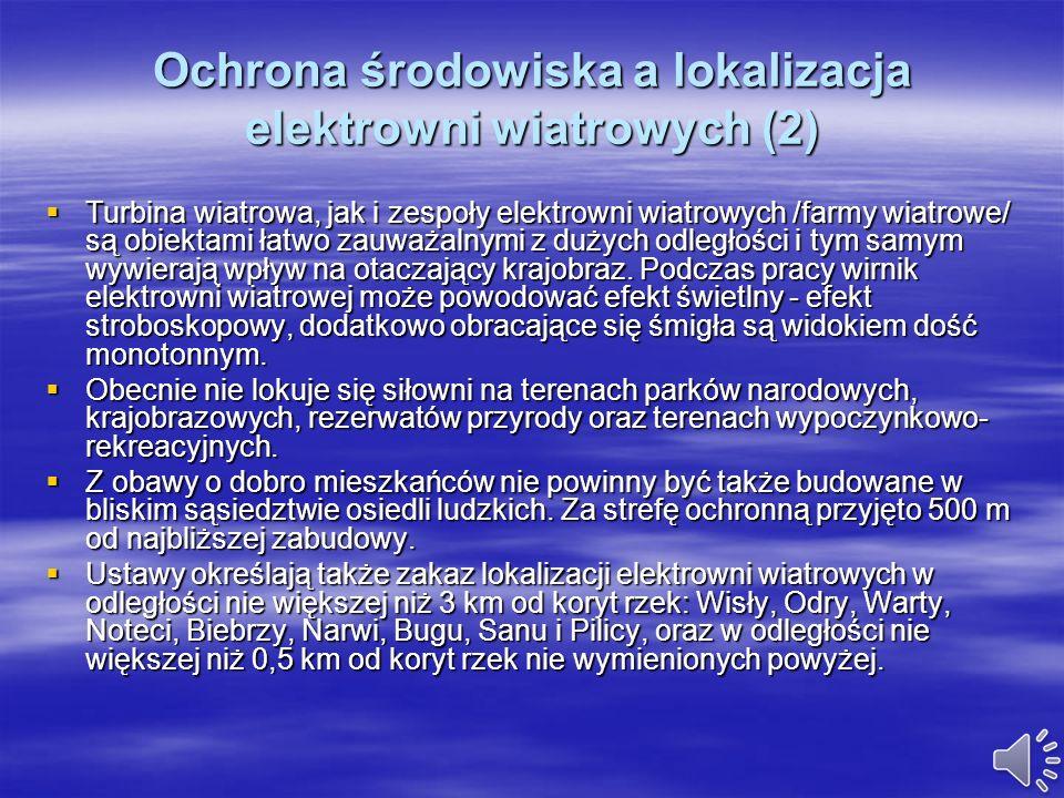 Ochrona środowiska a lokalizacja elektrowni wiatrowych (2)