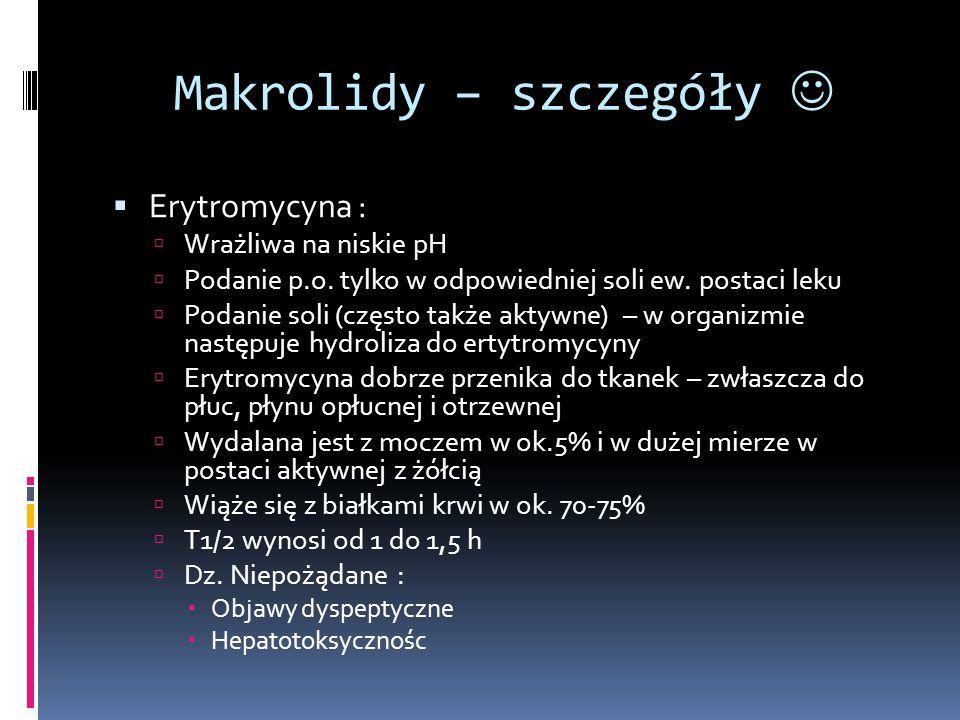 Makrolidy – szczegóły 