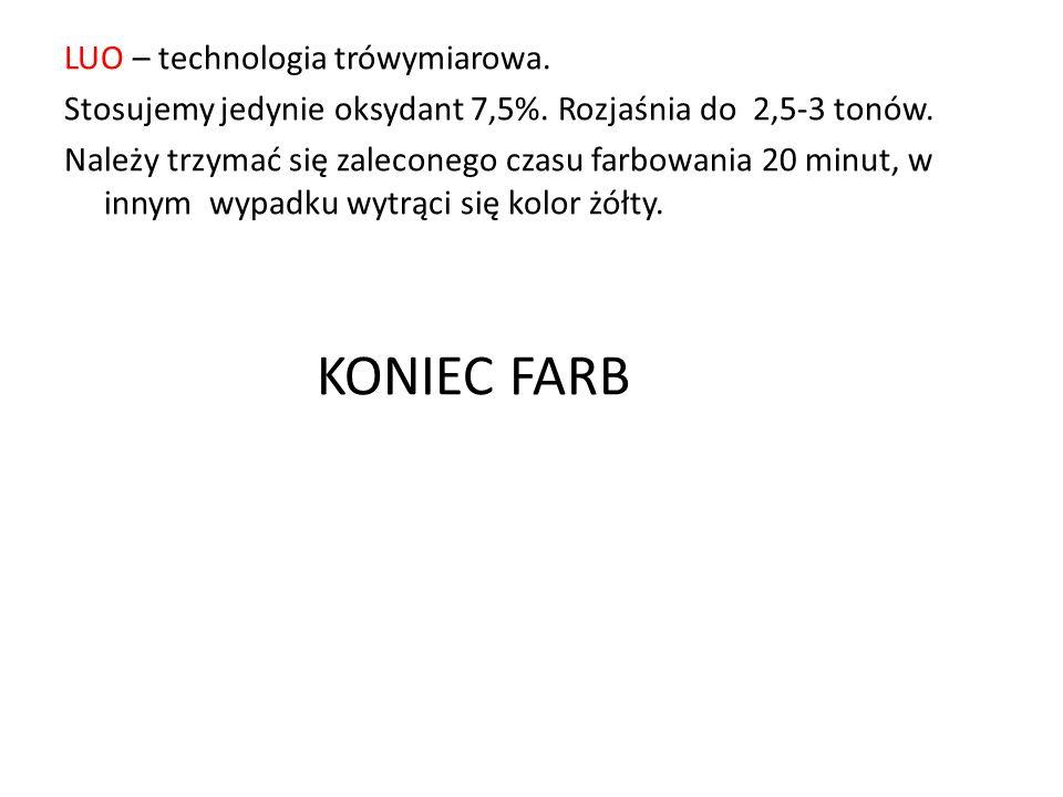 KONIEC FARB LUO – technologia trówymiarowa.