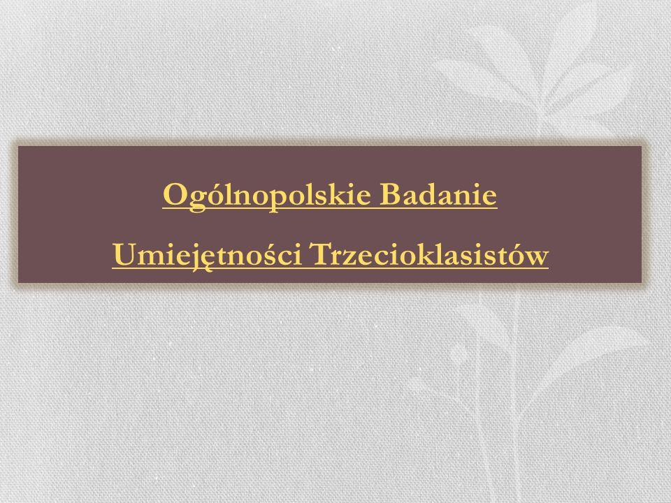 Ogólnopolskie Badanie Umiejętności Trzecioklasistów