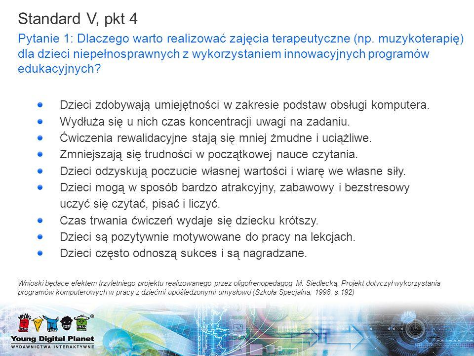 Standard V, pkt 4