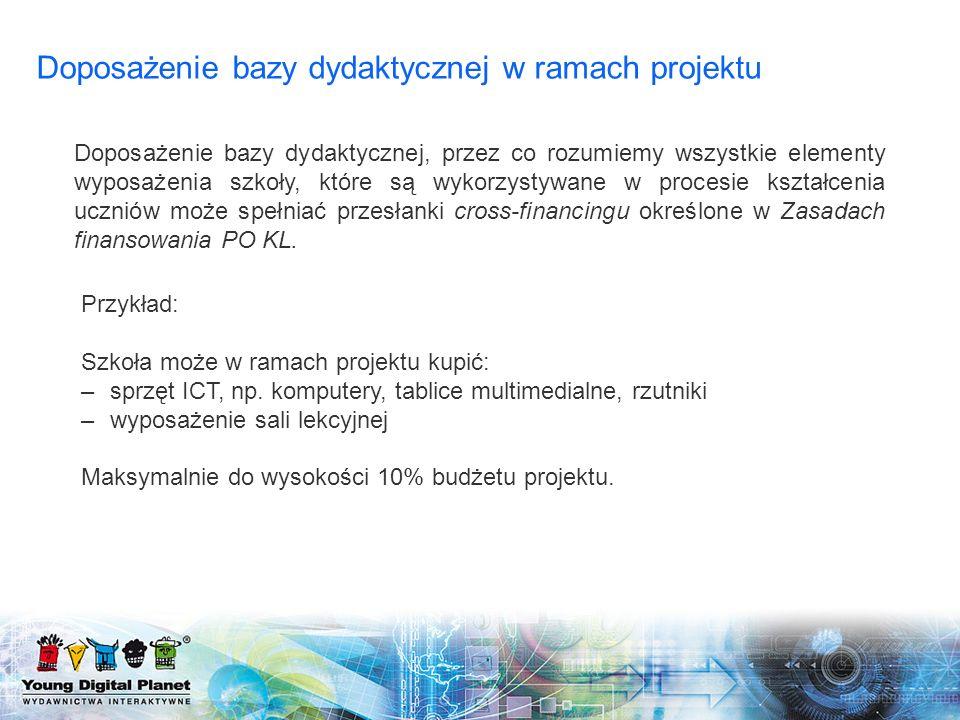 Doposażenie bazy dydaktycznej w ramach projektu
