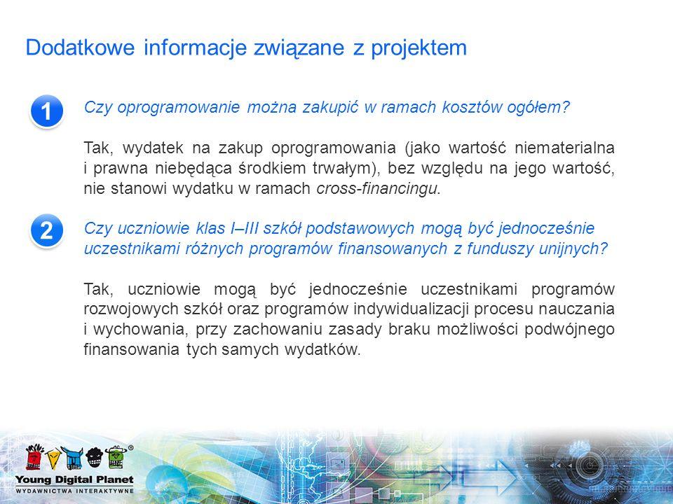 1 2 Dodatkowe informacje związane z projektem