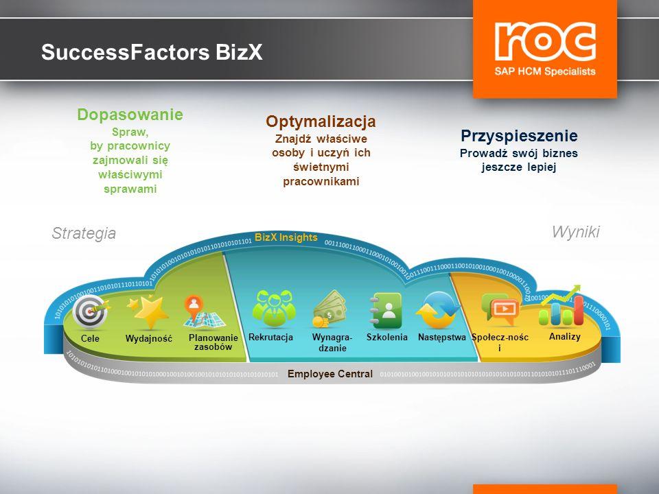 SuccessFactors BizX Dopasowanie Optymalizacja Przyspieszenie Strategia