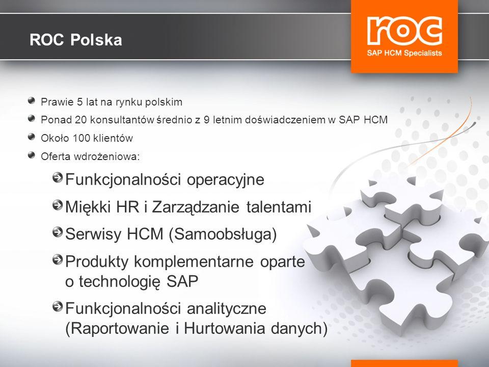 Funkcjonalności operacyjne Miękki HR i Zarządzanie talentami
