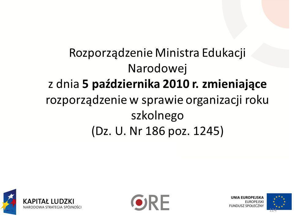 Rozporządzenie Ministra Edukacji Narodowej z dnia 5 października 2010 r.