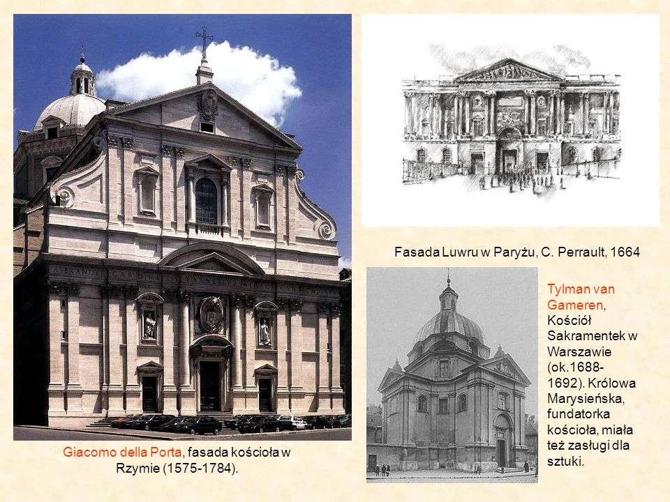 Giacomo della Porta, fasada kościoła w Rzymie (1575-1784).