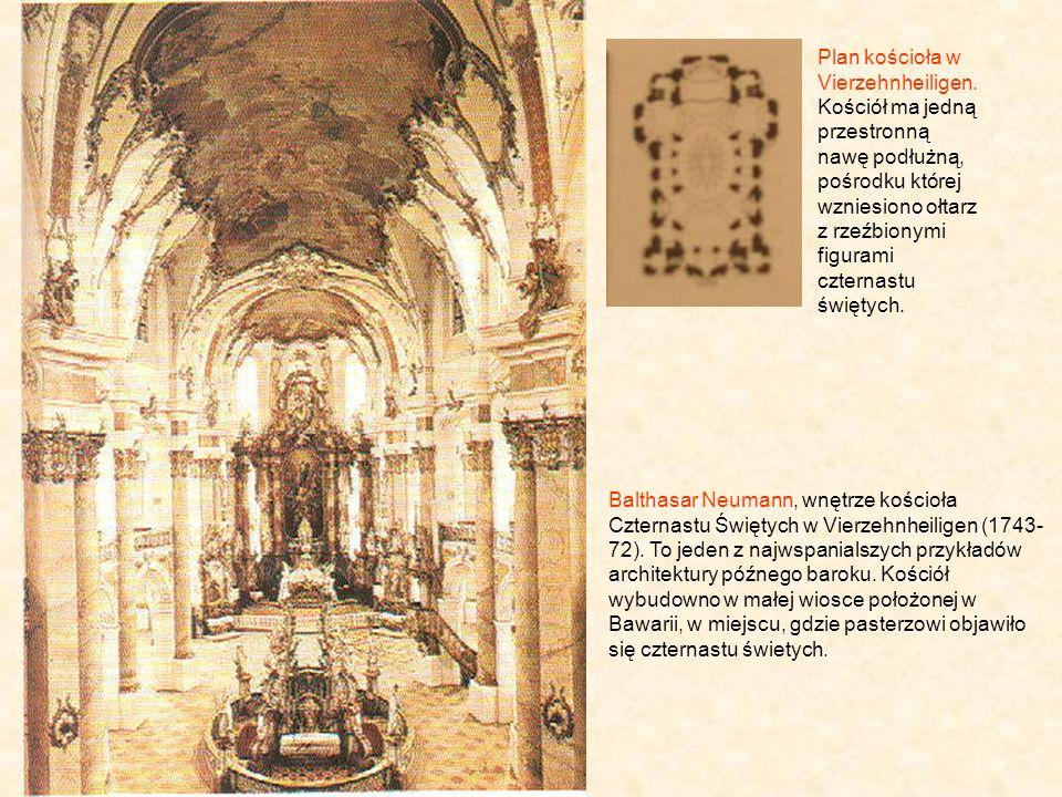 Plan kościoła w Vierzehnheiligen