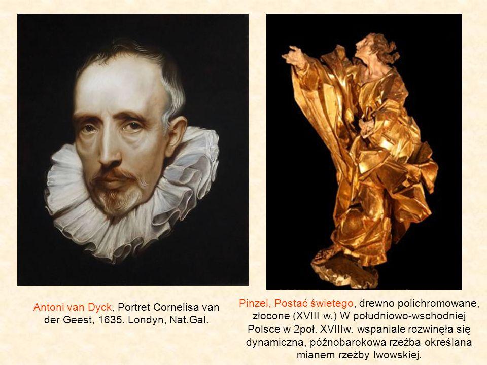 Pinzel, Postać świetego, drewno polichromowane, złocone (XVIII w
