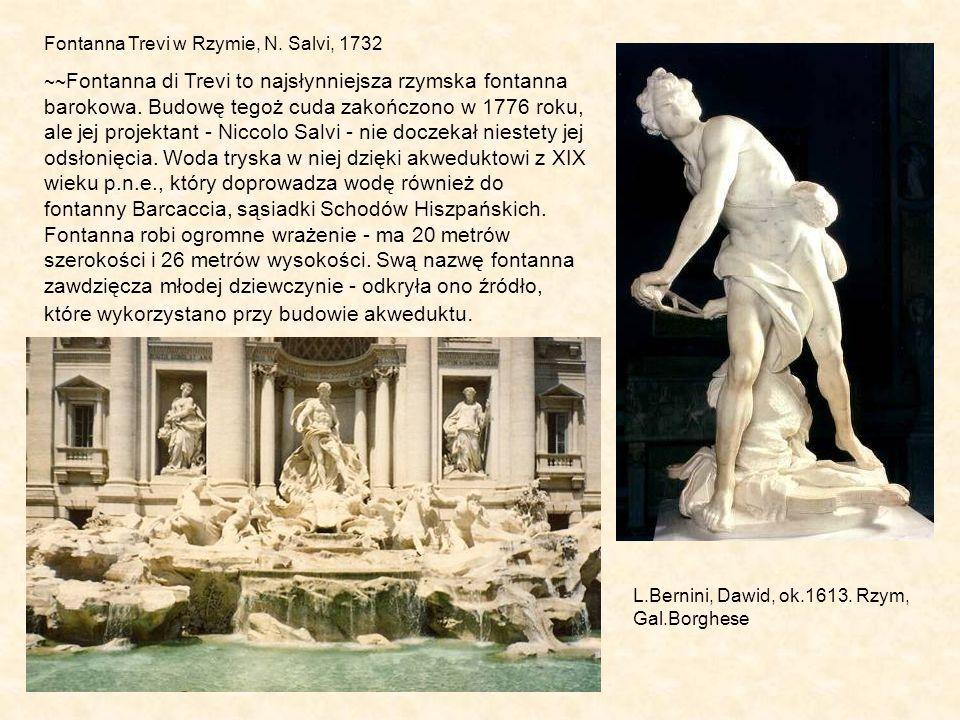 Fontanna Trevi w Rzymie, N. Salvi, 1732
