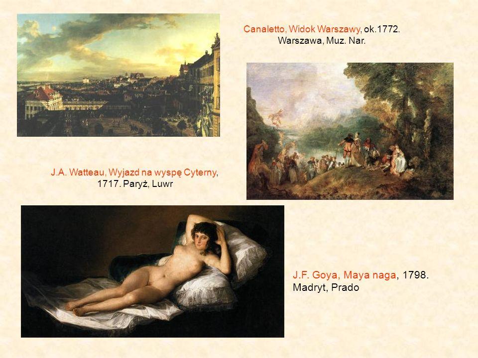 J.F. Goya, Maya naga, 1798. Madryt, Prado