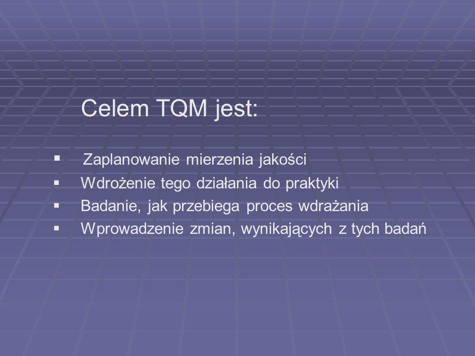 Celem TQM jest: Zaplanowanie mierzenia jakości