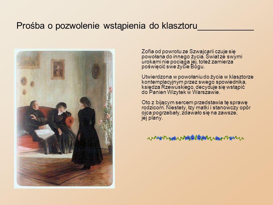 Prośba o pozwolenie wstąpienia do klasztoru___________