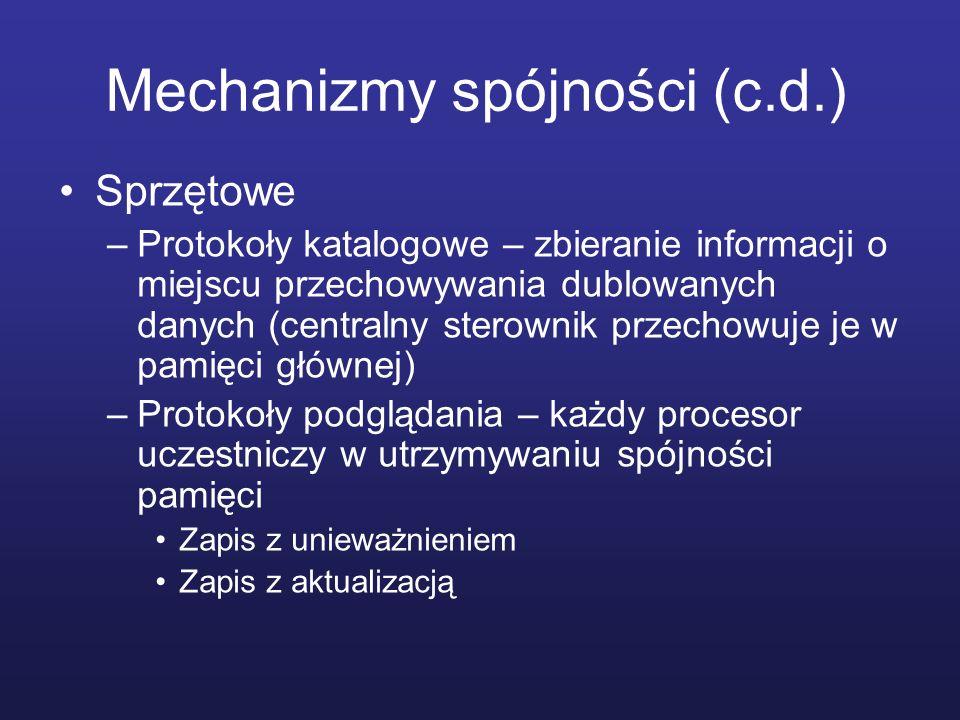 Mechanizmy spójności (c.d.)