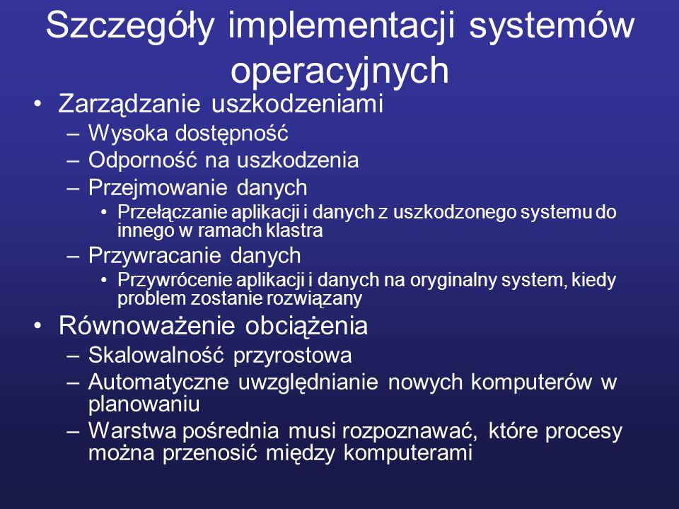 Szczegóły implementacji systemów operacyjnych