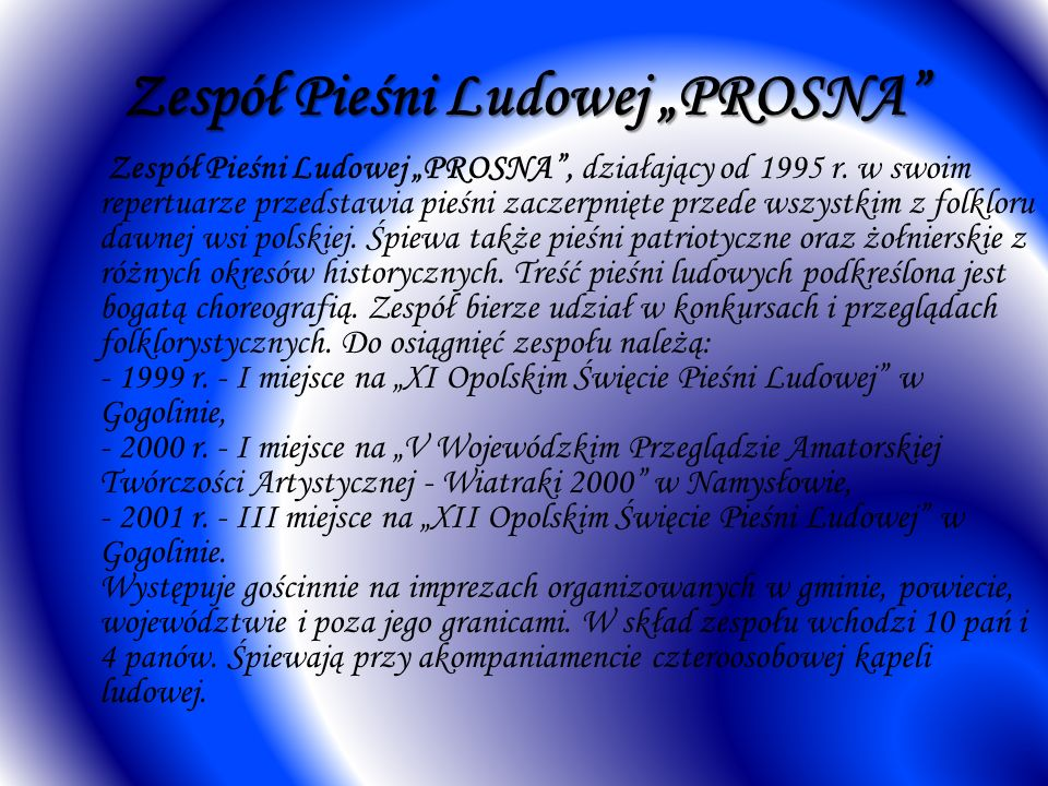 """Zespół Pieśni Ludowej """"PROSNA"""