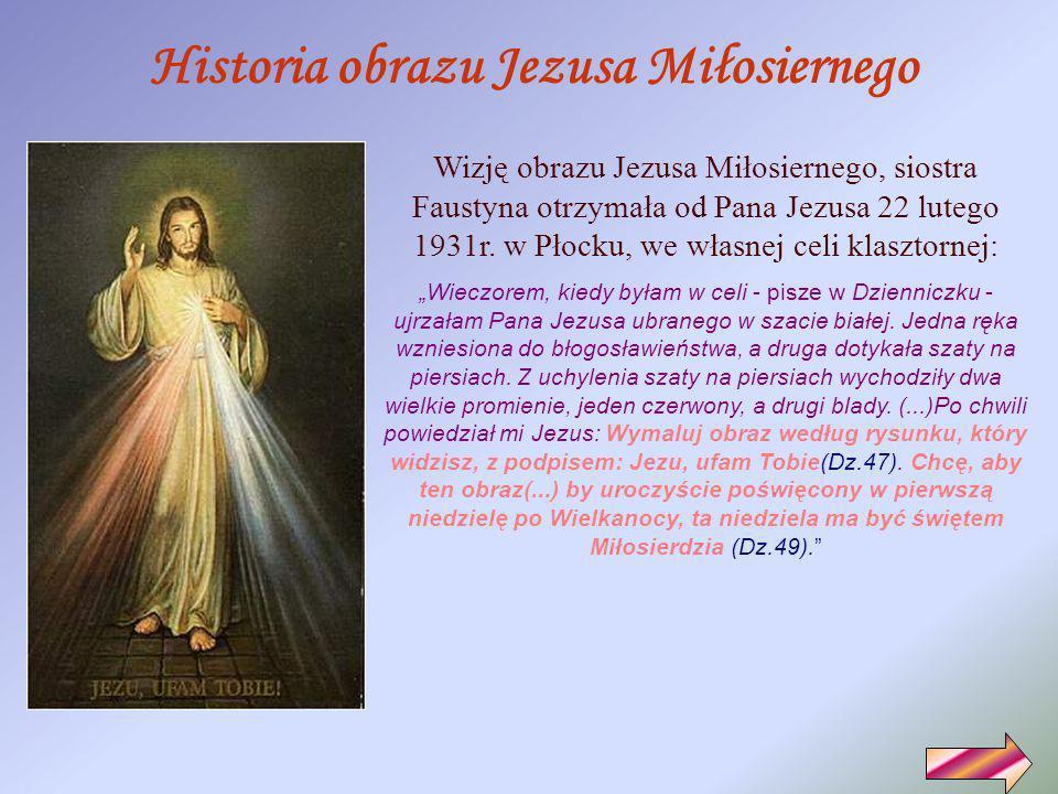 Historia obrazu Jezusa Miłosiernego