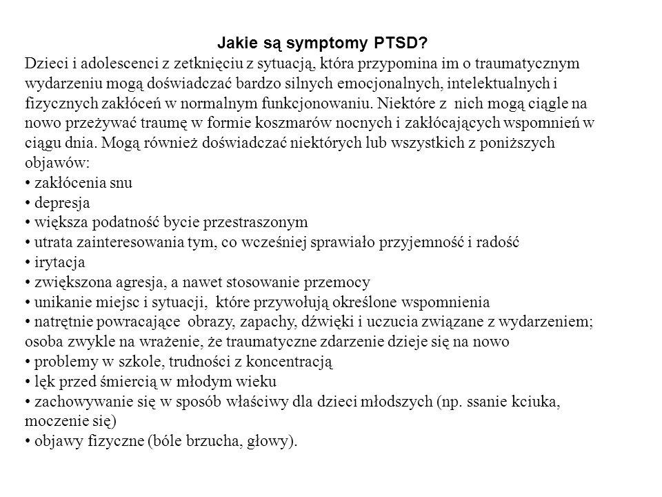 Jakie są symptomy PTSD