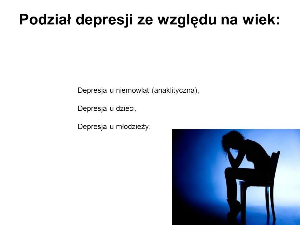 Podział depresji ze względu na wiek: