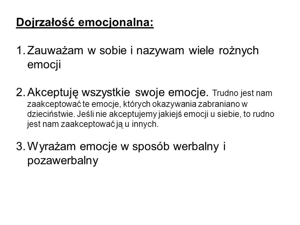 Dojrzałość emocjonalna: