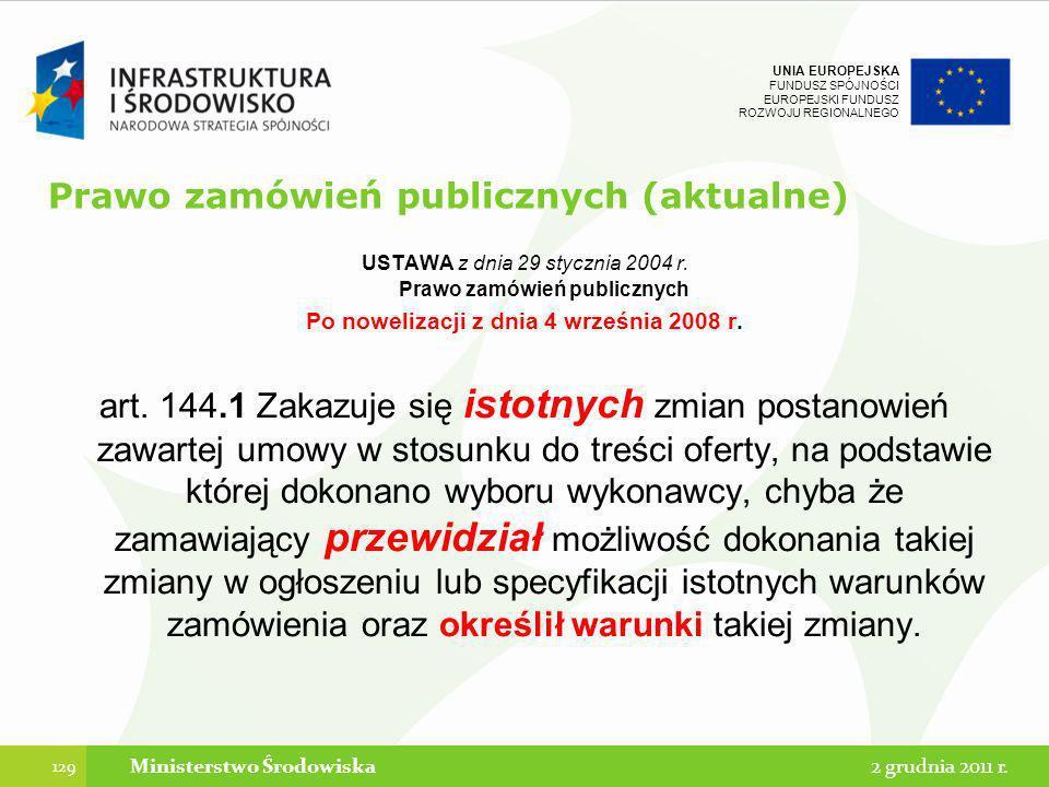 Prawo zamówień publicznych (aktualne)
