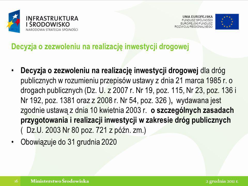 Decyzja o zezwoleniu na realizację inwestycji drogowej