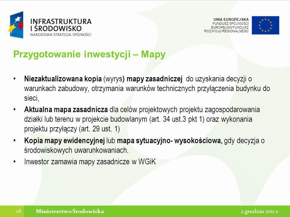 Przygotowanie inwestycji – Mapy