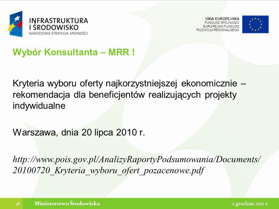 Wybór Konsultanta – MRR !