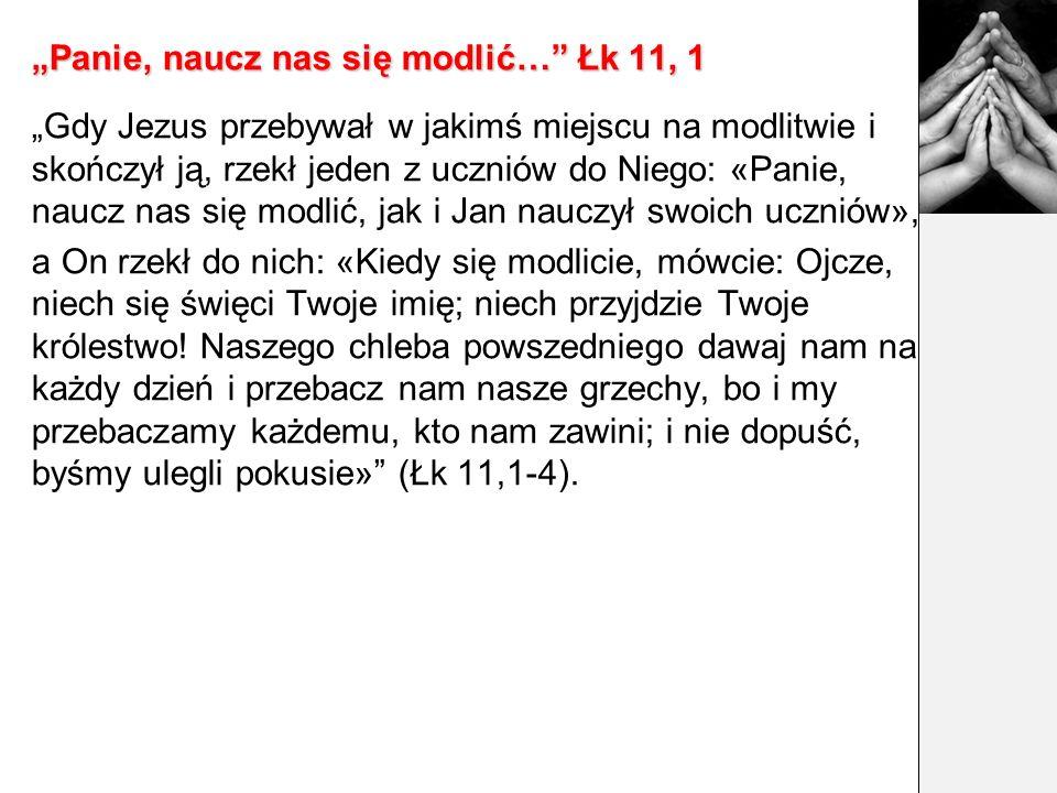 """""""Panie, naucz nas się modlić… Łk 11, 1"""