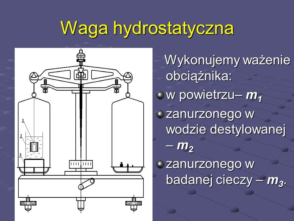 Waga hydrostatyczna w powietrzu– m1