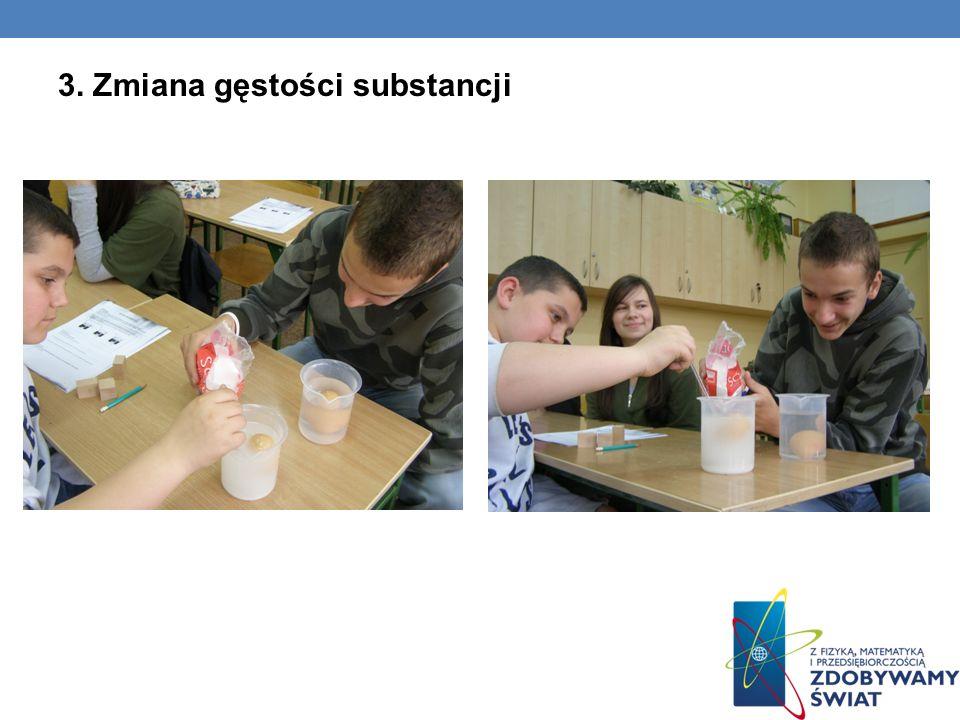 3. Zmiana gęstości substancji