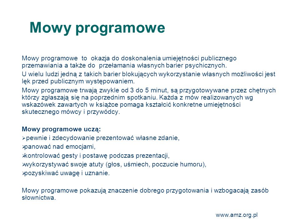 Mowy programowe