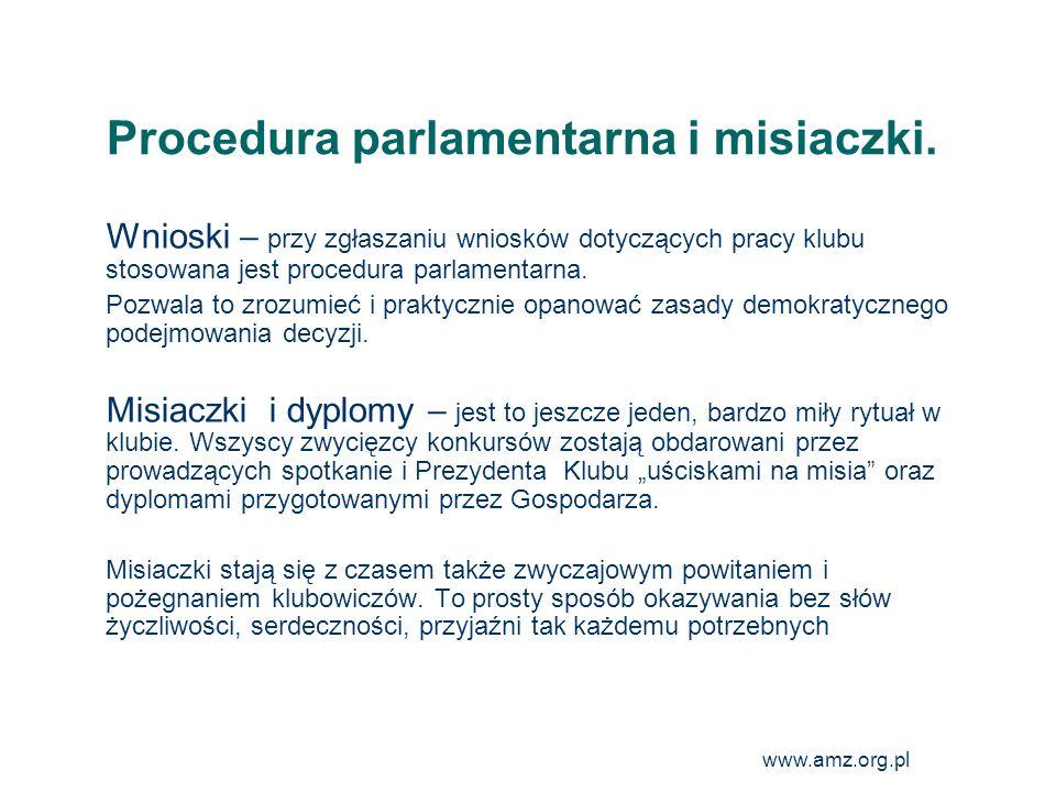Procedura parlamentarna i misiaczki.