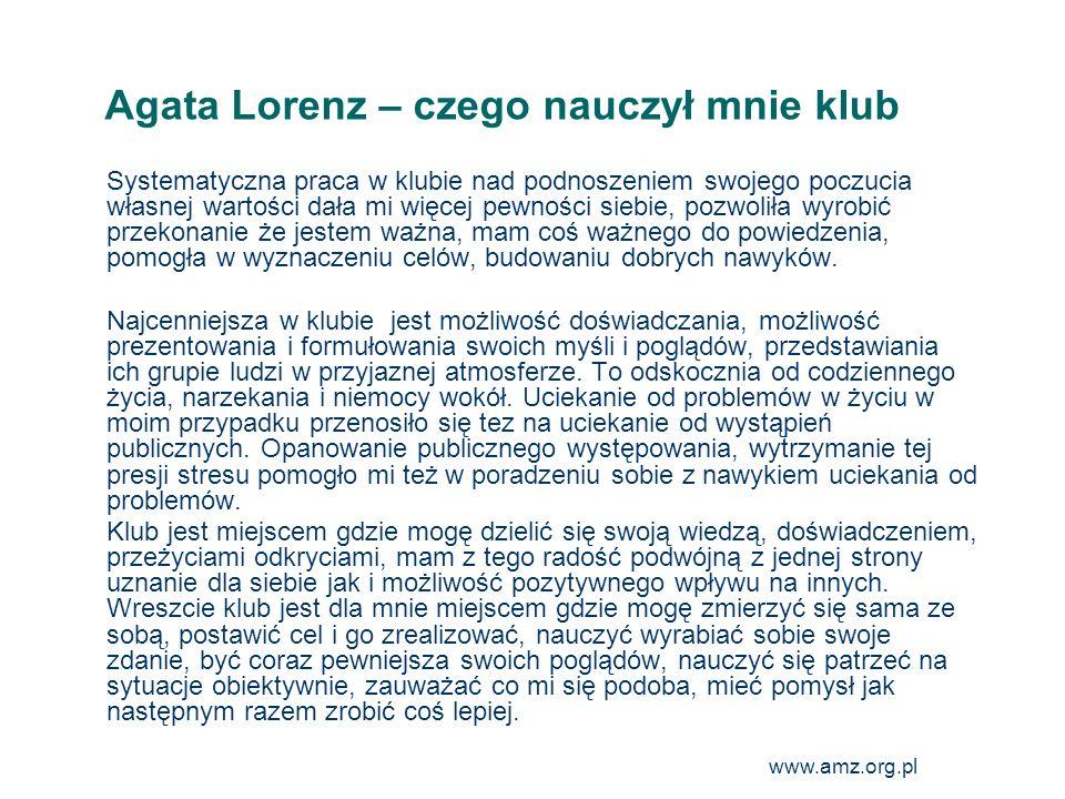 Agata Lorenz – czego nauczył mnie klub