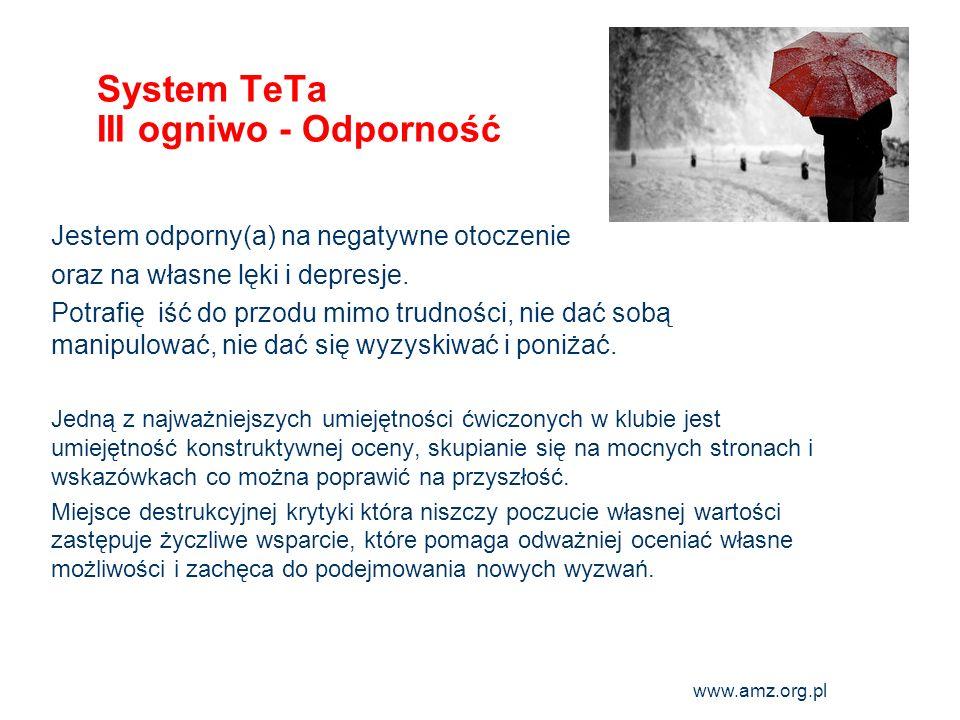 System TeTa III ogniwo - Odporność