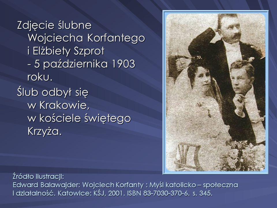 Ślub odbył się w Krakowie, w kościele świętego Krzyża.