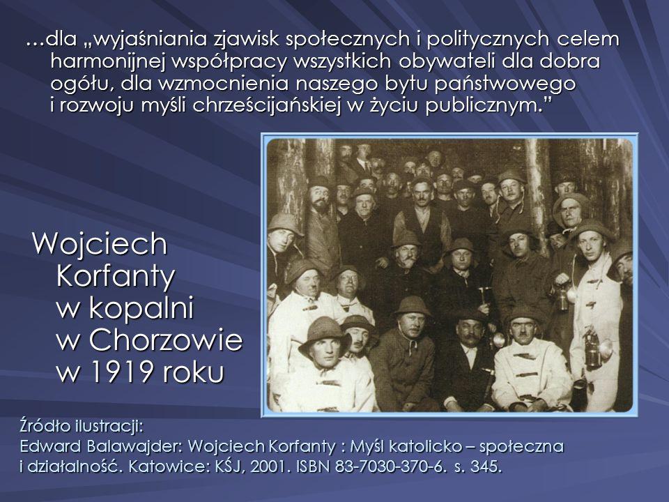 Wojciech Korfanty w kopalni w Chorzowie w 1919 roku