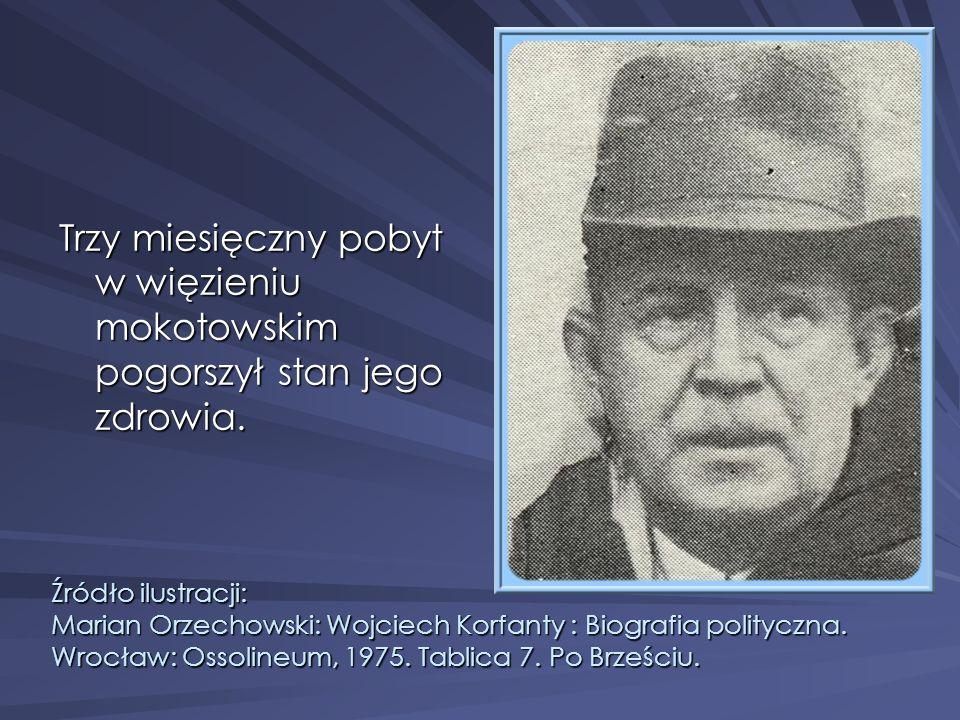 Trzy miesięczny pobyt w więzieniu mokotowskim pogorszył stan jego zdrowia.