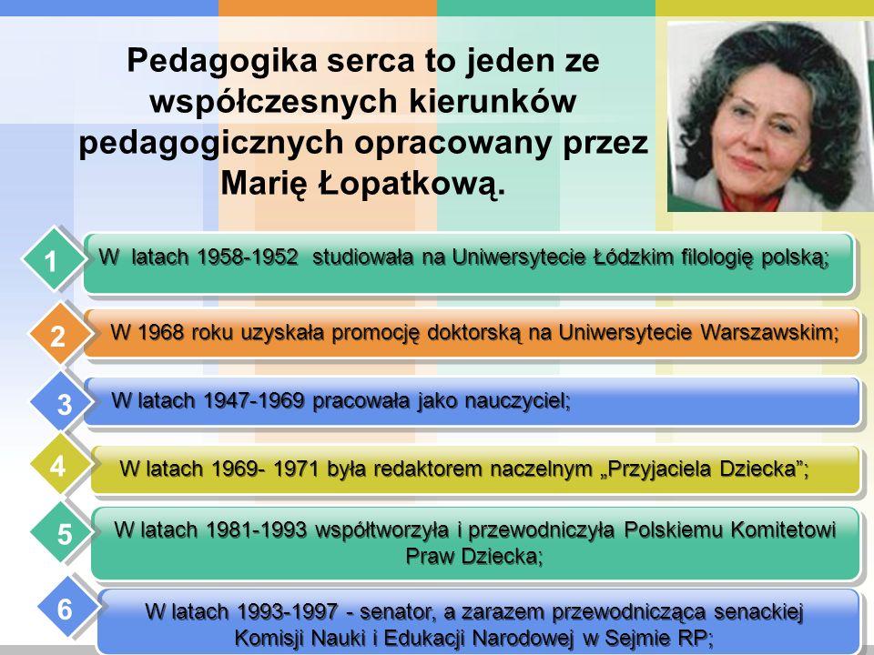 Pedagogika serca to jeden ze współczesnych kierunków pedagogicznych opracowany przez Marię Łopatkową.