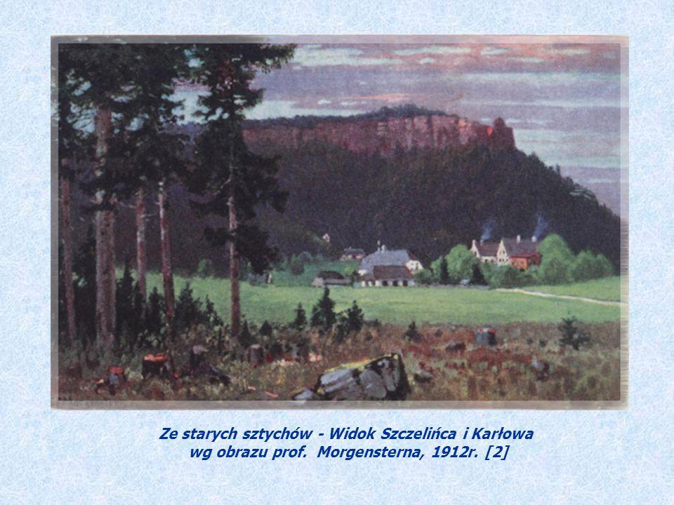 Ze starych sztychów - Widok Szczelińca i Karłowa