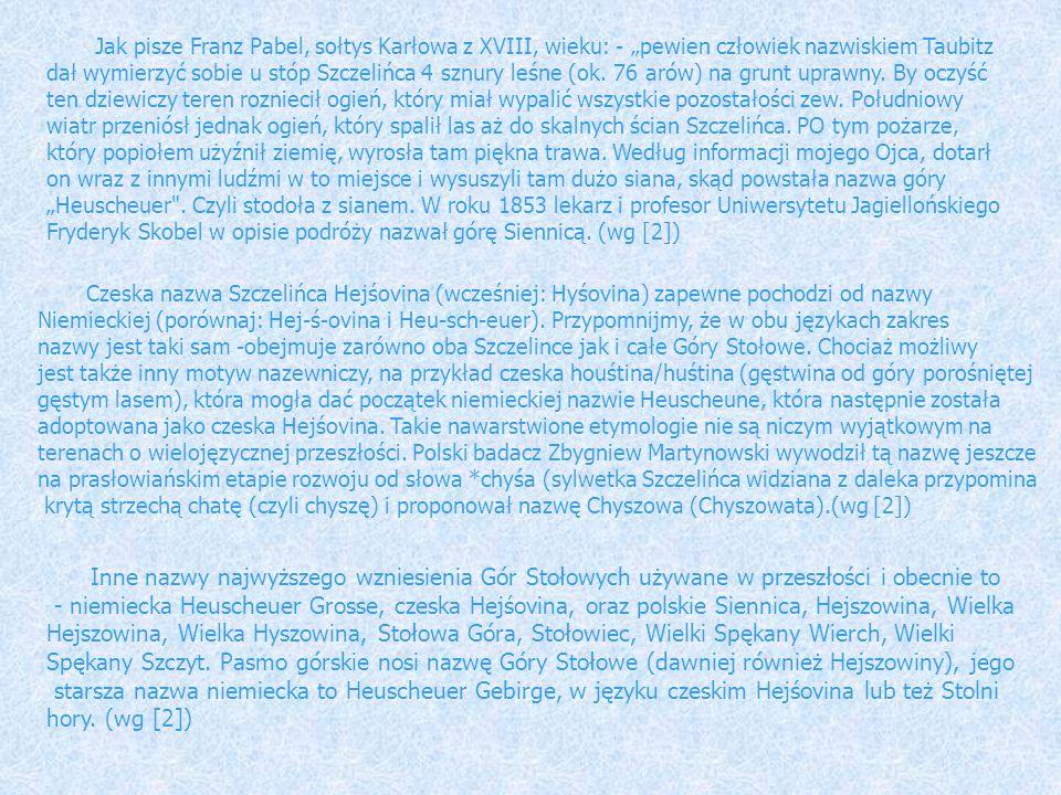 """Jak pisze Franz Pabel, sołtys Karłowa z XVIII, wieku: - """"pewien człowiek nazwiskiem Taubitz"""