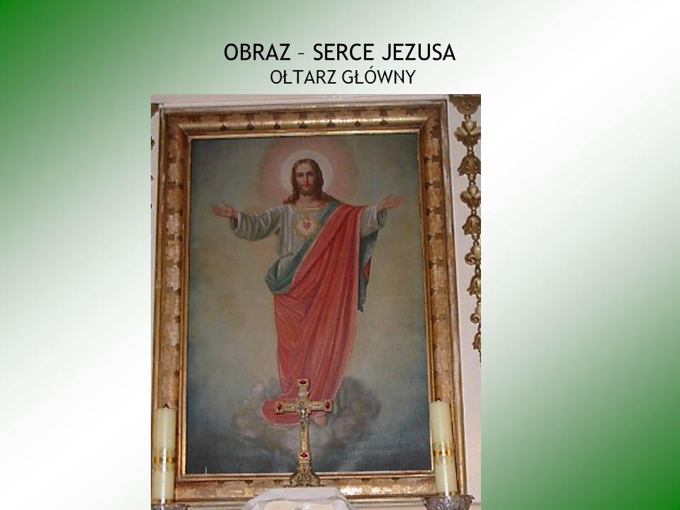 OBRAZ – SERCE JEZUSA OŁTARZ GŁÓWNY