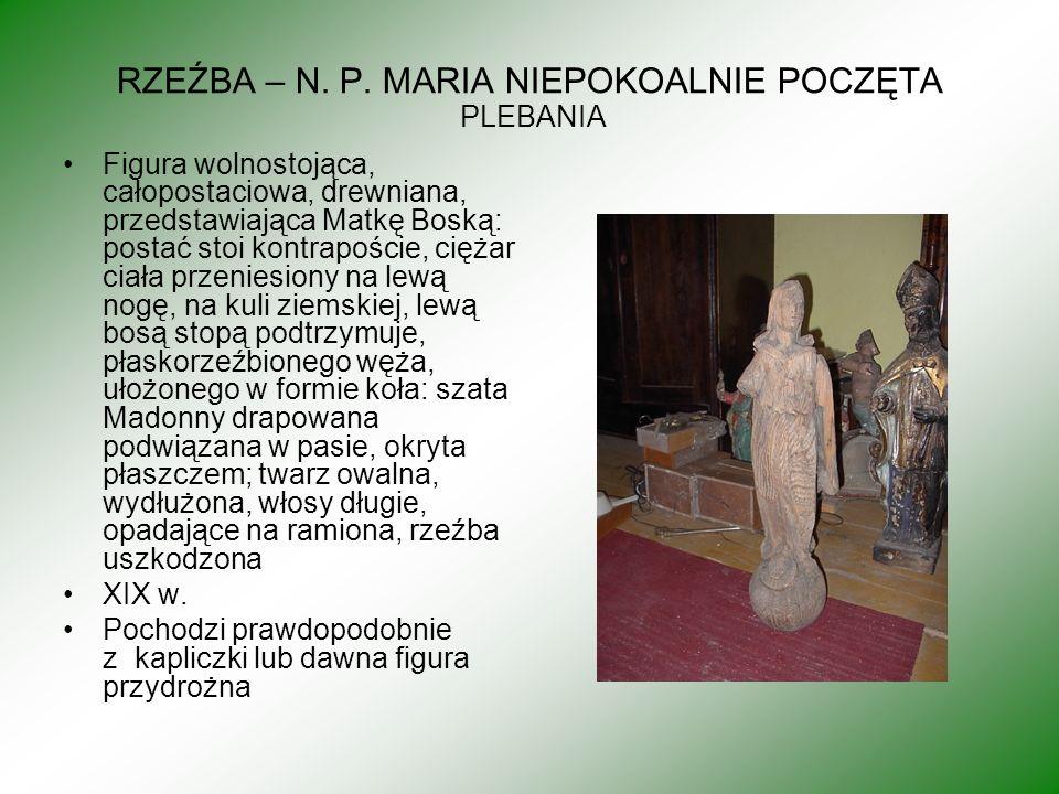 RZEŹBA – N. P. MARIA NIEPOKOALNIE POCZĘTA PLEBANIA